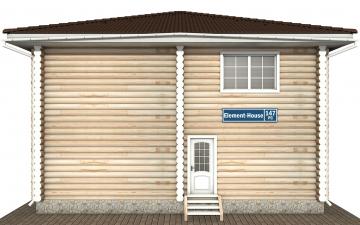 Фото #7: Красивый деревянный дом РС-147 из бревна