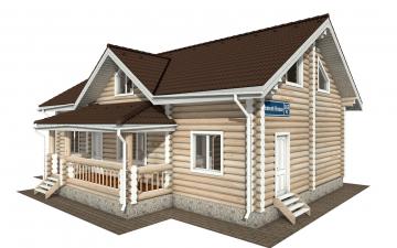 Фото #1: Красивый деревянный дом РС-166 из бревна