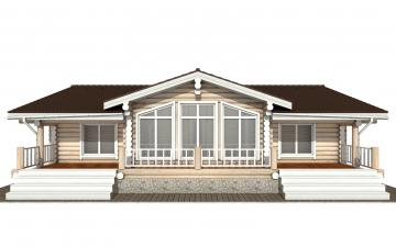 Фото #7: Красивый деревянный дом РС-166 из бревна