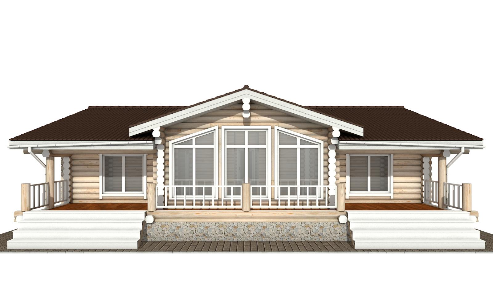 Фото #6: Красивый деревянный дом РС-166 из бревна