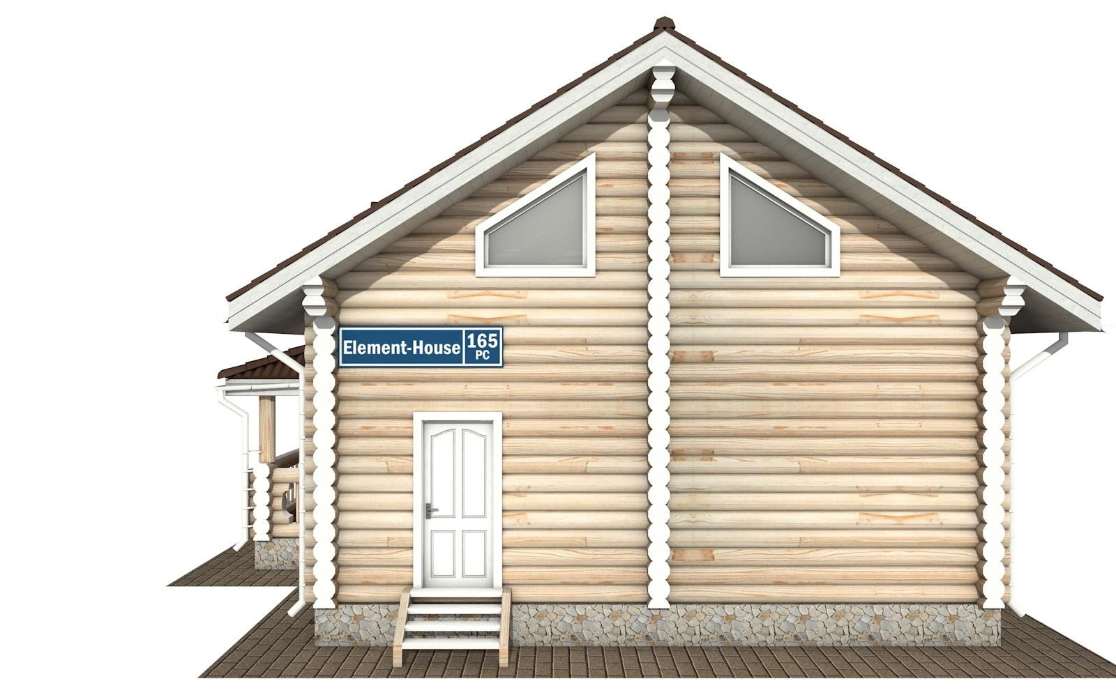 Фото #7: Красивый деревянный дом РС-165 из бревна