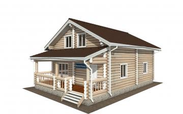 Фото #1: Красивый деревянный дом РС-167 из бревна