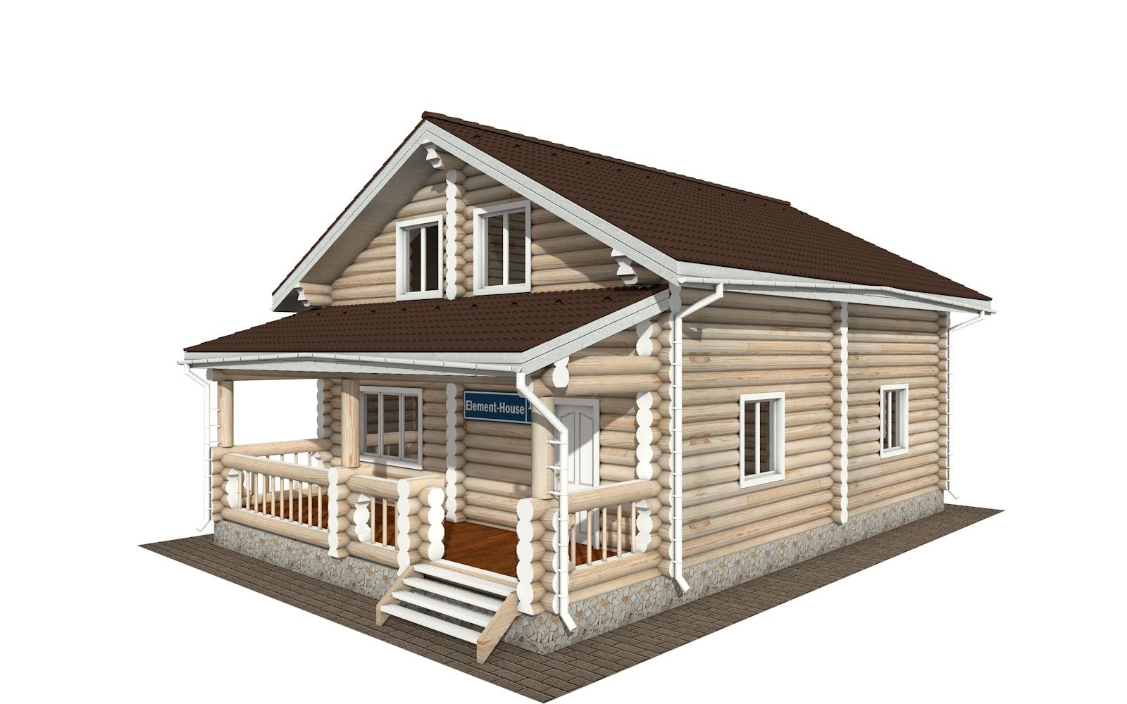 РС-167 - деревянный дома из бревна (из сруба)