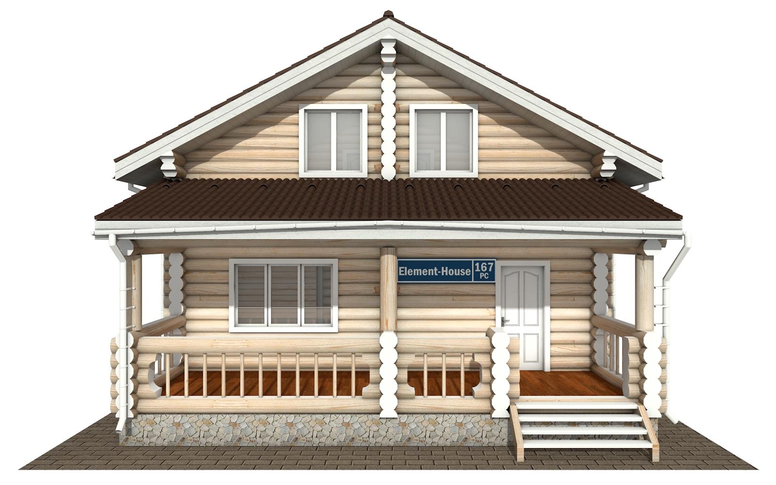 Фото #7: Красивый деревянный дом РС-167 из бревна