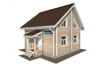 Фото #1: Красивый деревянный дом РС-168 из бревна