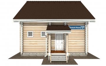 Фото #7: Красивый деревянный дом РС-168 из бревна