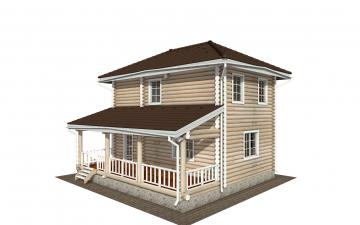 Фото #1: Красивый деревянный дом РС-169 из бревна