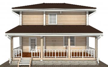 Фото #7: Красивый деревянный дом РС-169 из бревна