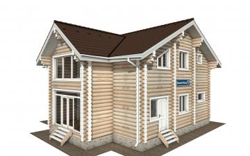 Фото #1: Красивый деревянный дом РС-170 из бревна