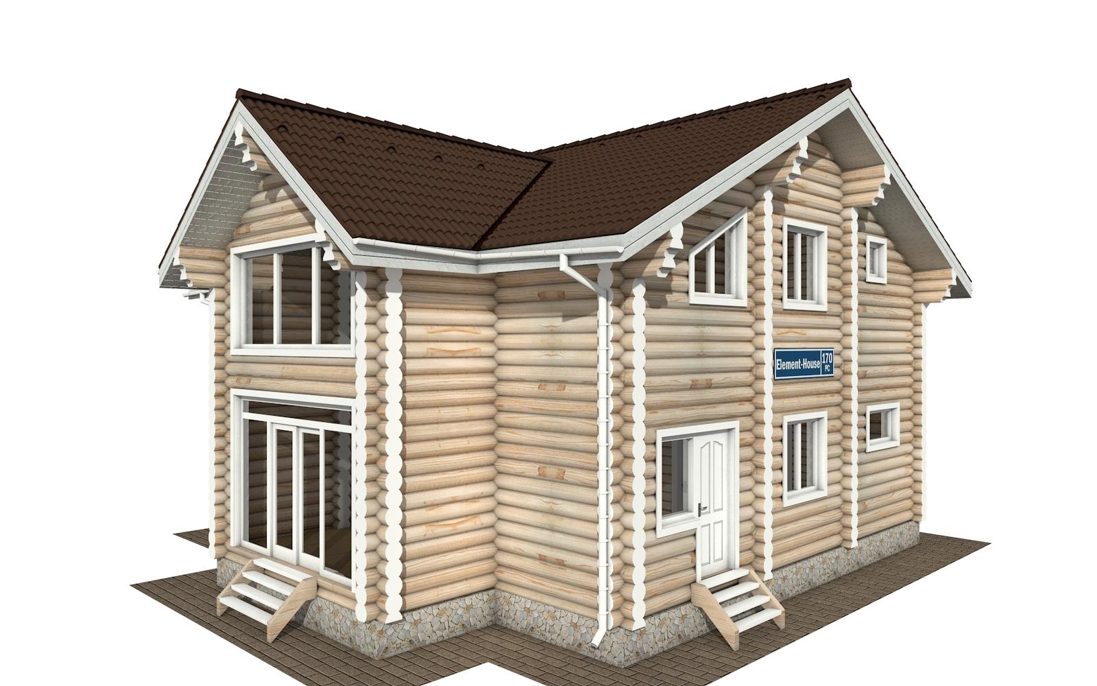 РС-170 - деревянный дома из бревна (из сруба)