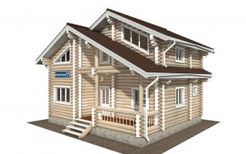 Фото #1: Красивый деревянный дом РС-176 из бревна