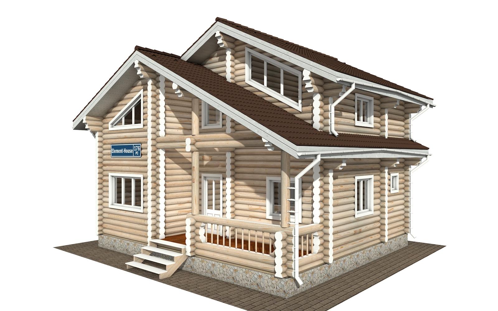 РС-176 - деревянный дома из бревна (из сруба)