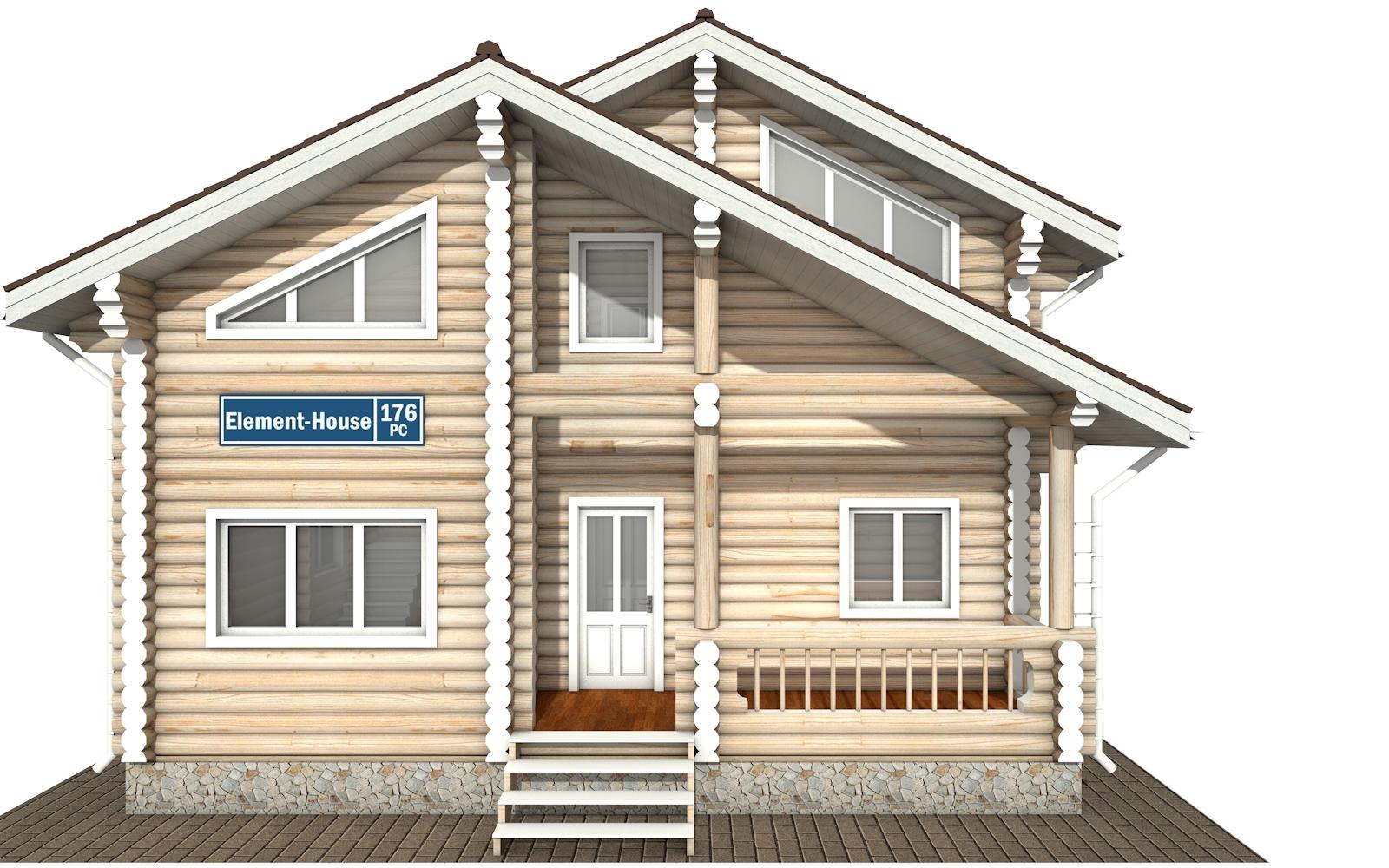 Фото #7: Красивый деревянный дом РС-176 из бревна