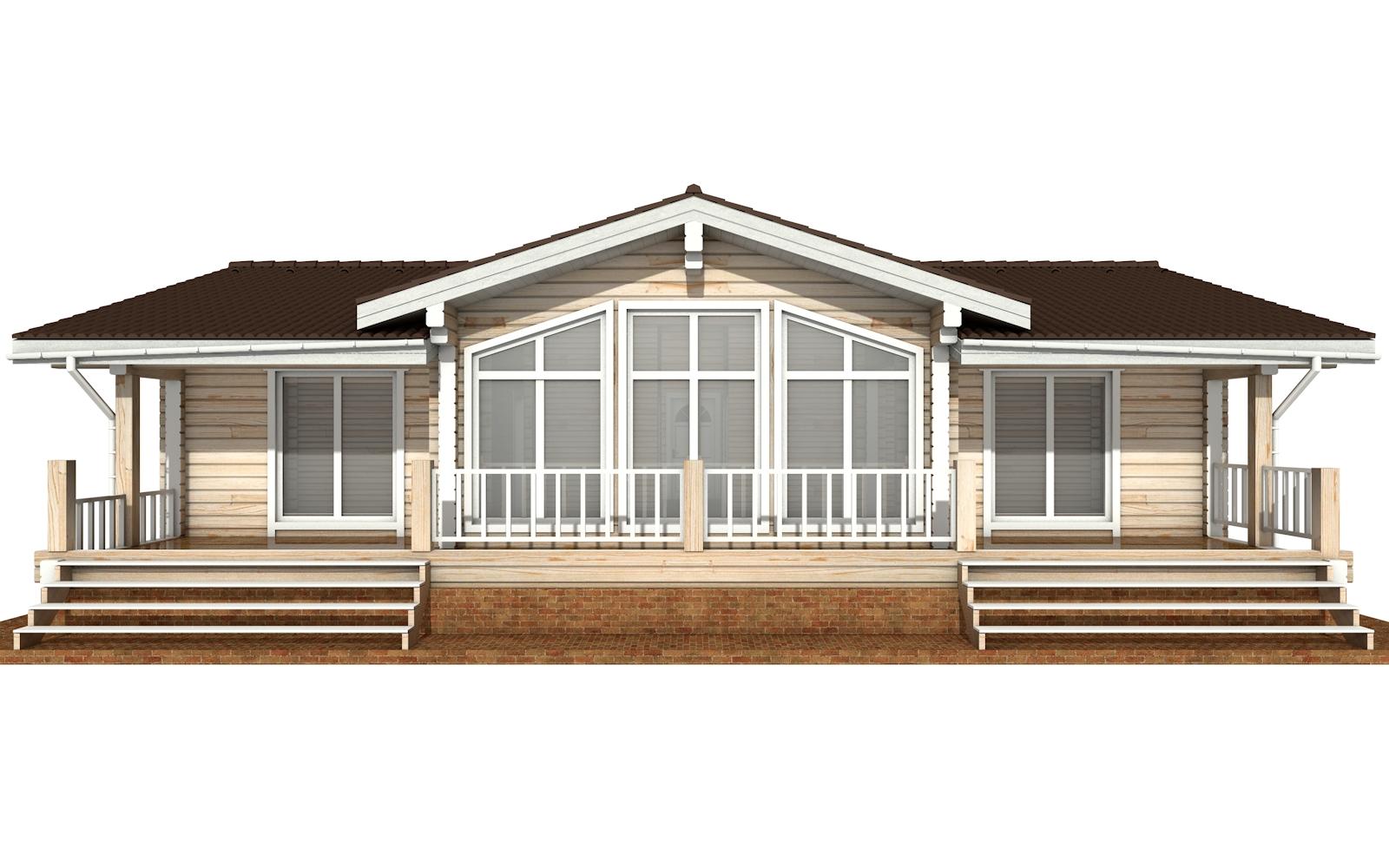 Фото #6: деревянный дом ПДБ-63 из клееного бруса купить за 8979351 (цена «Под ключ»)