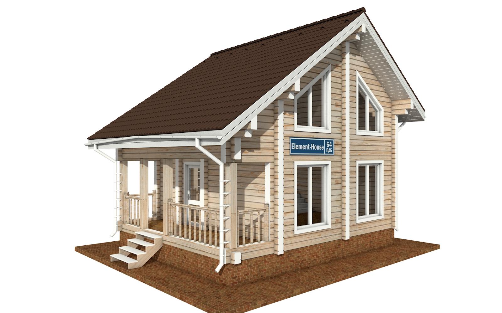 ПДБ-64 - деревянный дом из клееного бруса