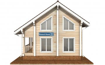 Фото #7: деревянный дом ПДБ-64 из клееного бруса купить за 7080194 (цена «Под ключ»)