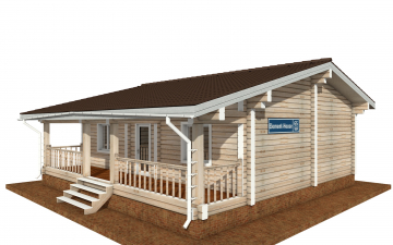 Фото #1: деревянный дом ПДБ-65 из клееного бруса купить за 8011498 (цена «Под ключ»)