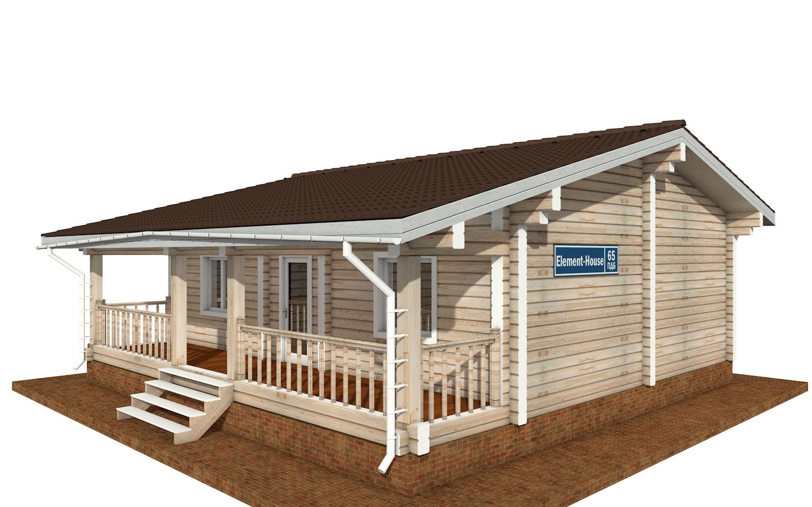ПДБ-65 - деревянный дом из клееного бруса