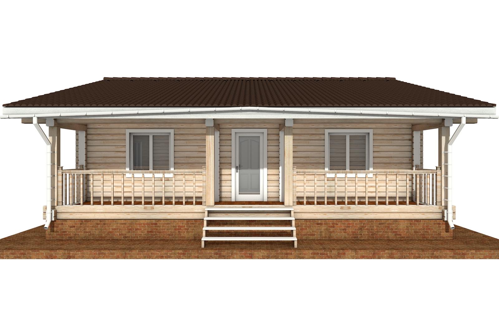 Фото #6: деревянный дом ПДБ-65 из клееного бруса купить за 8011498 (цена «Под ключ»)