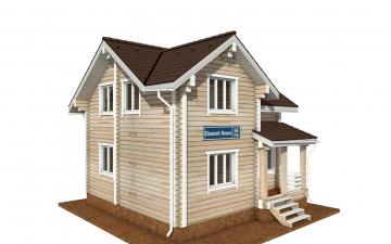 Фото #1: деревянный дом ПДБ-66 из клееного бруса купить за 8077921 (цена «Под ключ»)