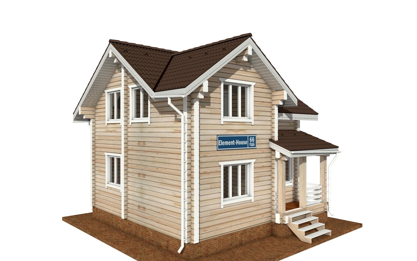 ПДБ-66 - деревянный дом из клееного бруса