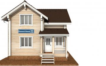 Фото #7: деревянный дом ПДБ-66 из клееного бруса купить за 8077921 (цена «Под ключ»)