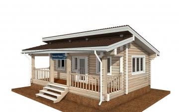 Фото #1: деревянный дом ПДБ-67 из клееного бруса купить за 4301693 (цена «Под ключ»)