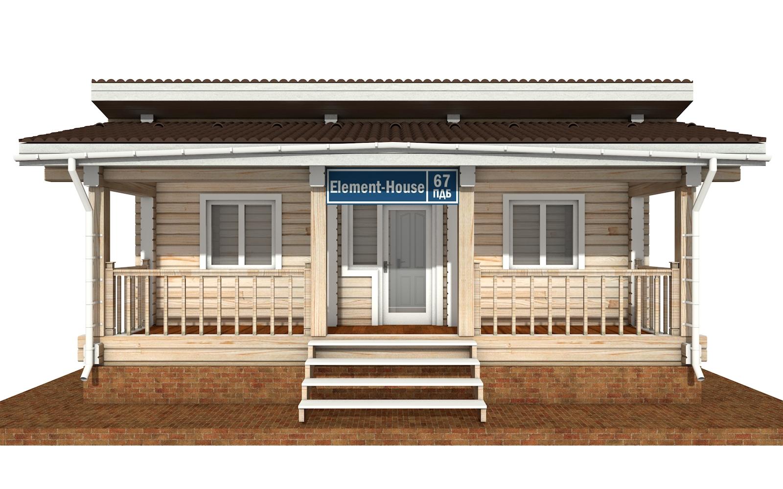 Фото #6: деревянный дом ПДБ-67 из клееного бруса купить за 4301693 (цена «Под ключ»)