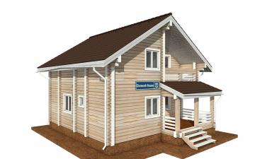 Фото #1: деревянный дом ПДБ-68 из клееного бруса купить за 10596603 (цена «Под ключ»)