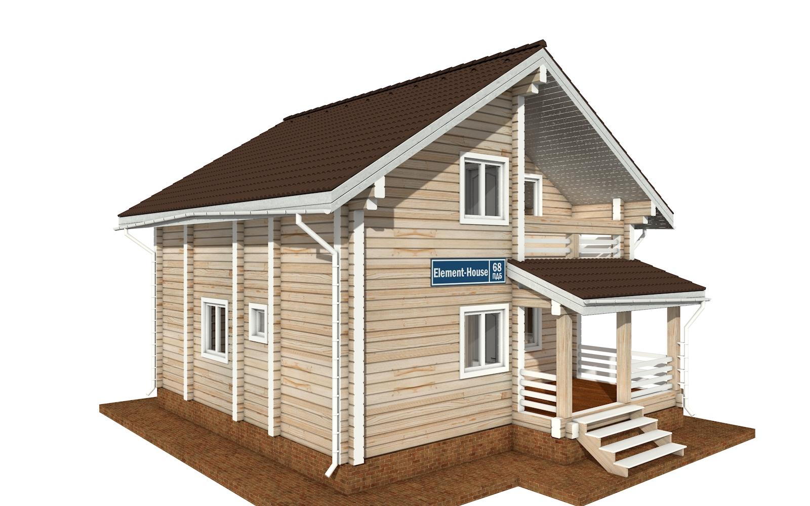 ПДБ-68 - деревянный дом из клееного бруса