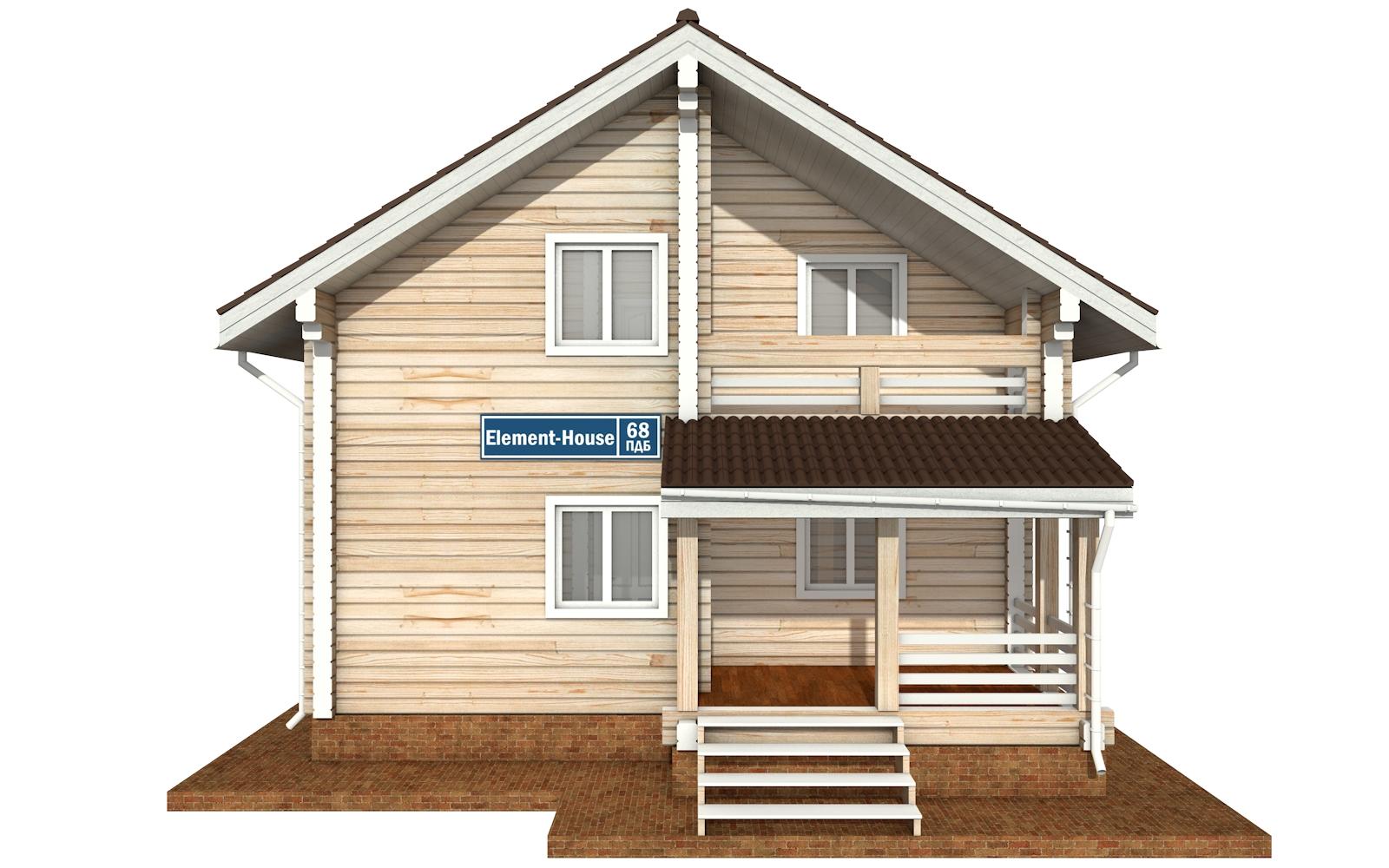 Фото #7: деревянный дом ПДБ-68 из клееного бруса купить за 10596603 (цена «Под ключ»)