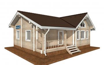 Фото #1: деревянный дом ПДБ-69 из клееного бруса купить за 8728012 (цена «Под ключ»)