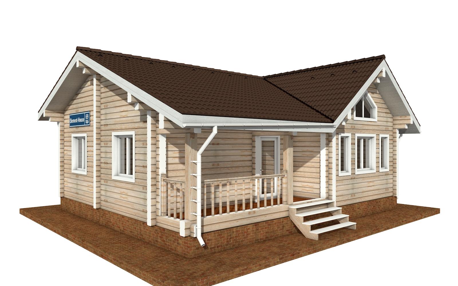 ПДБ-69 - деревянный дом из клееного бруса