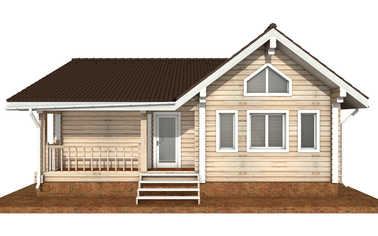 Фото #6: деревянный дом ПДБ-69 из клееного бруса купить за 8728012 (цена «Под ключ»)