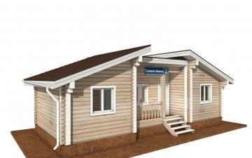 Фото #1: деревянный дом ПДБ-70 из клееного бруса купить за 5880759 (цена «Под ключ»)