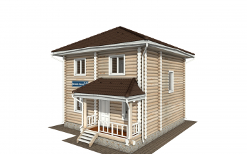Фото #1: Красивый деревянный дом РС-149 из бревна