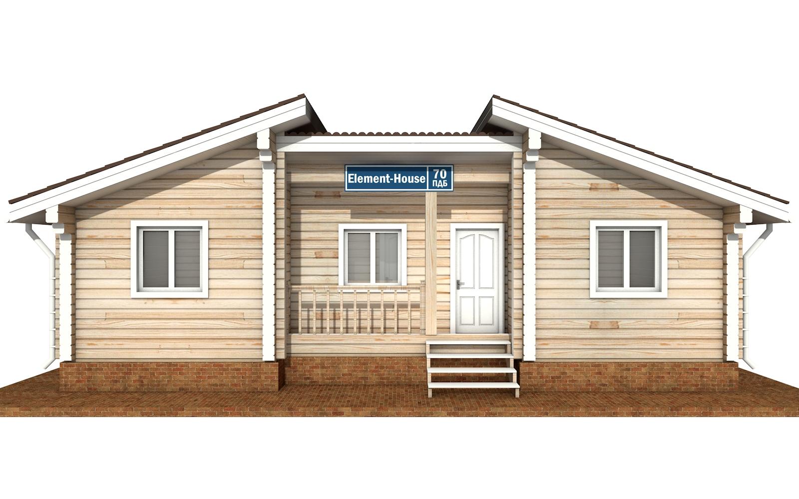 Фото #6: деревянный дом ПДБ-70 из клееного бруса купить за 5880759 (цена «Под ключ»)