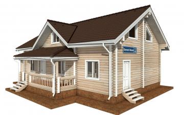 Фото #1: деревянный дом ПДБ-71 из клееного бруса купить за 10054092 (цена «Под ключ»)