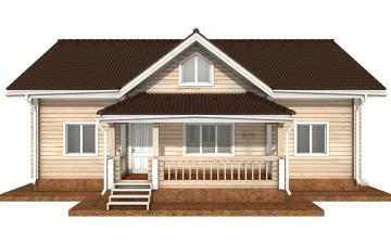 Фото #7: деревянный дом ПДБ-71 из клееного бруса купить за 10054092 (цена «Под ключ»)