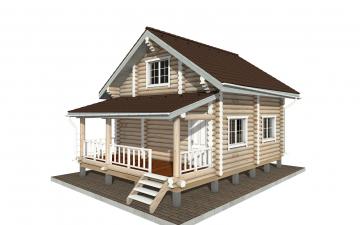 Фото #1: Красивый деревянный дом РС-150 из бревна