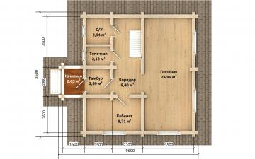 Фото #5: Красивый деревянный дом РС-168 из бревна