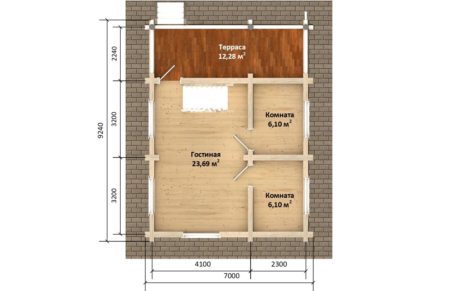 Фото #5: Красивый деревянный дом РС-150 из бревна