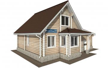 Фото #2: Красивый деревянный дом РС-151 из бревна