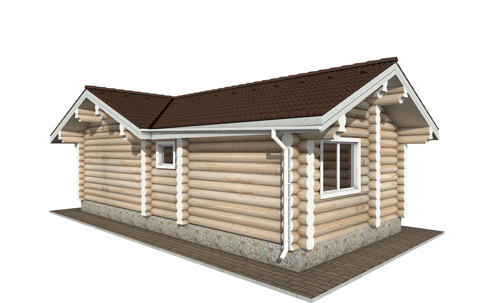 Фото #2: Красивый деревянный дом РС-152 из бревна
