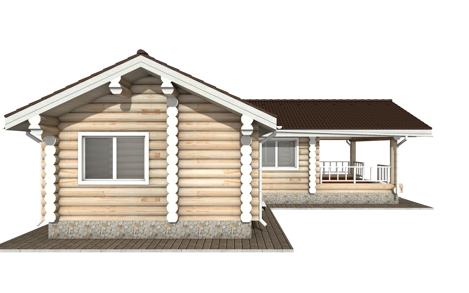 Фото #7: Красивый деревянный дом РС-152 из бревна