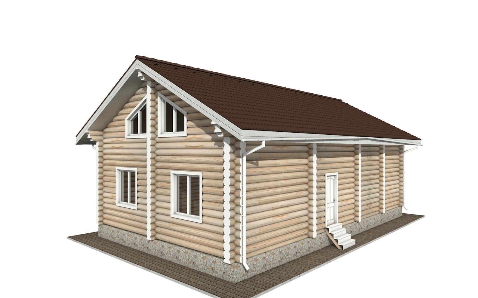 Фото #2: Красивый деревянный дом РС-153 из бревна