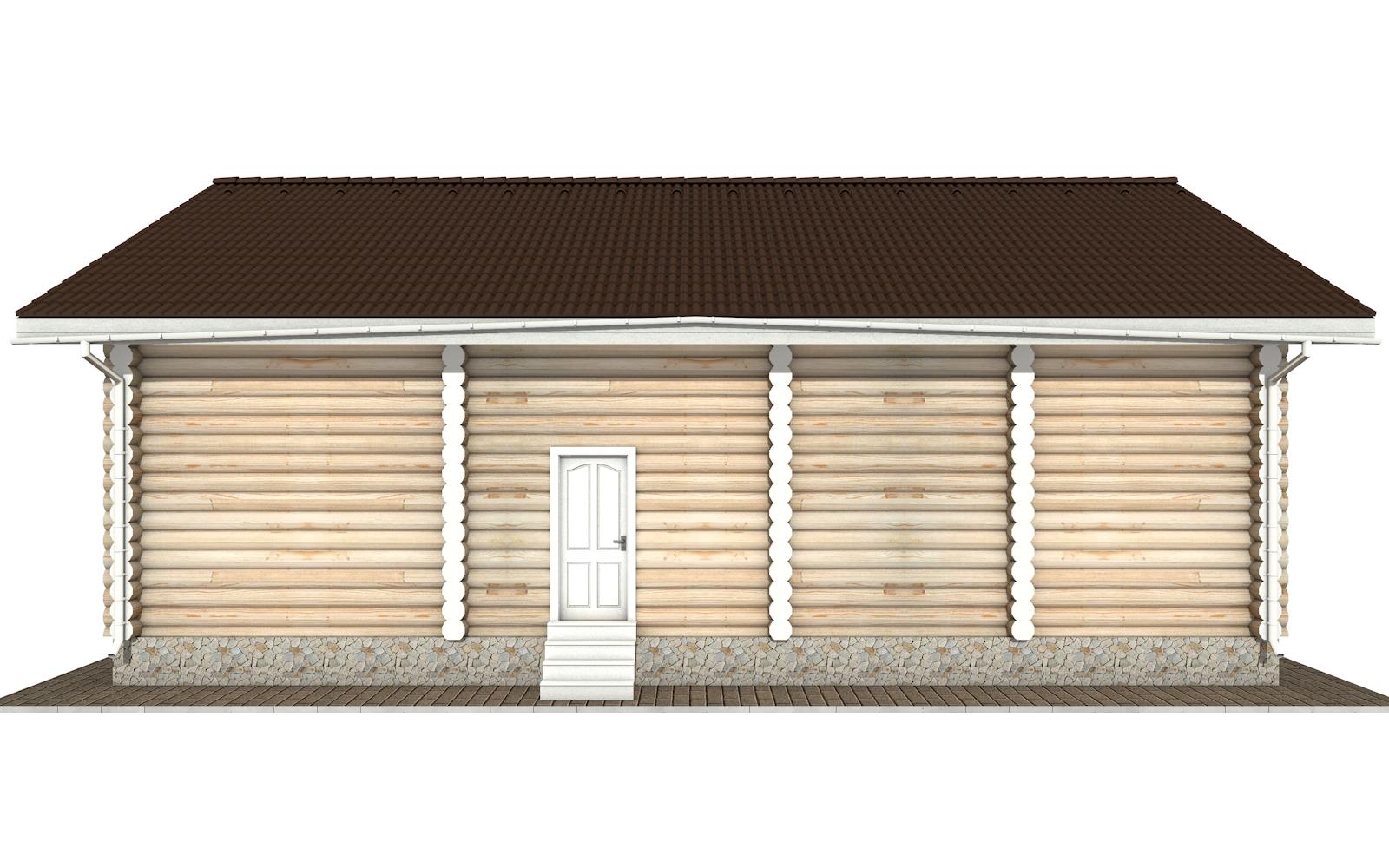 Фото #8: Красивый деревянный дом РС-153 из бревна