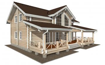 Фото #2: Красивый деревянный дом РС-154 из бревна