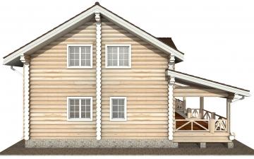 Фото #8: Красивый деревянный дом РС-154 из бревна