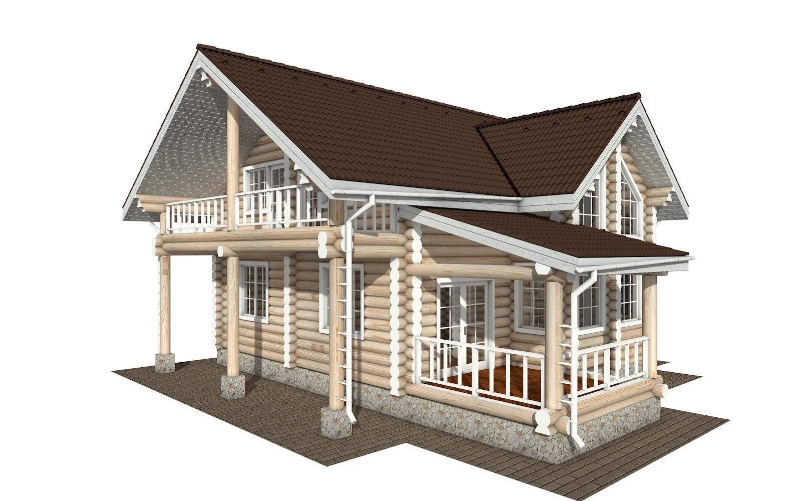 Фото #2: Красивый деревянный дом РС-155 из бревна
